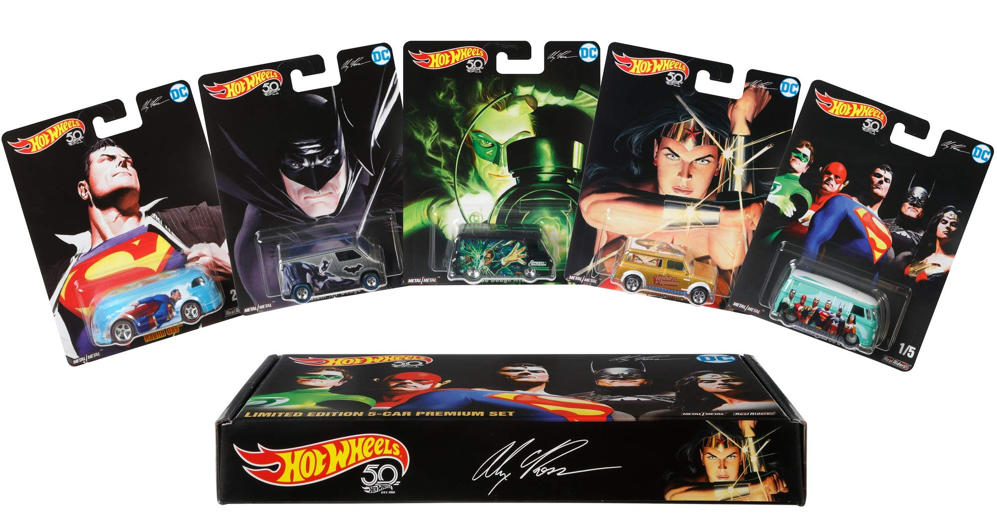 Hot Wheels Alex Ross Limited Edition Collector 5 Pack [Amazon Exclusive]