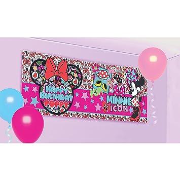 amscan Pancarta Personalizable cumpleaños de Minnie Mouse ...