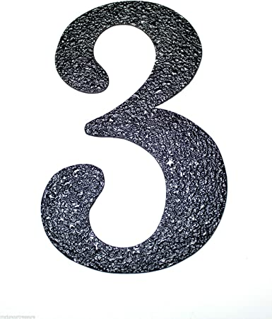 House Numbers Black Embossed Magnetic Number: 7 Great for Garage Doors