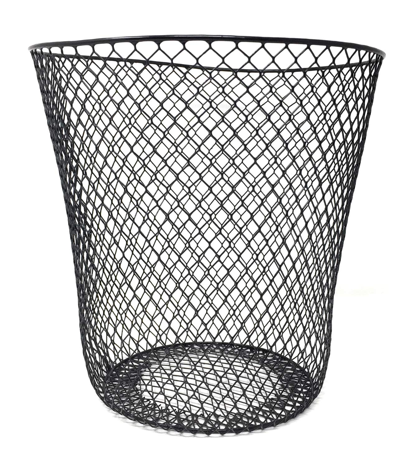 Essentials Wire Mesh Waste Basket Black Amazon Co Uk Business Industry Science