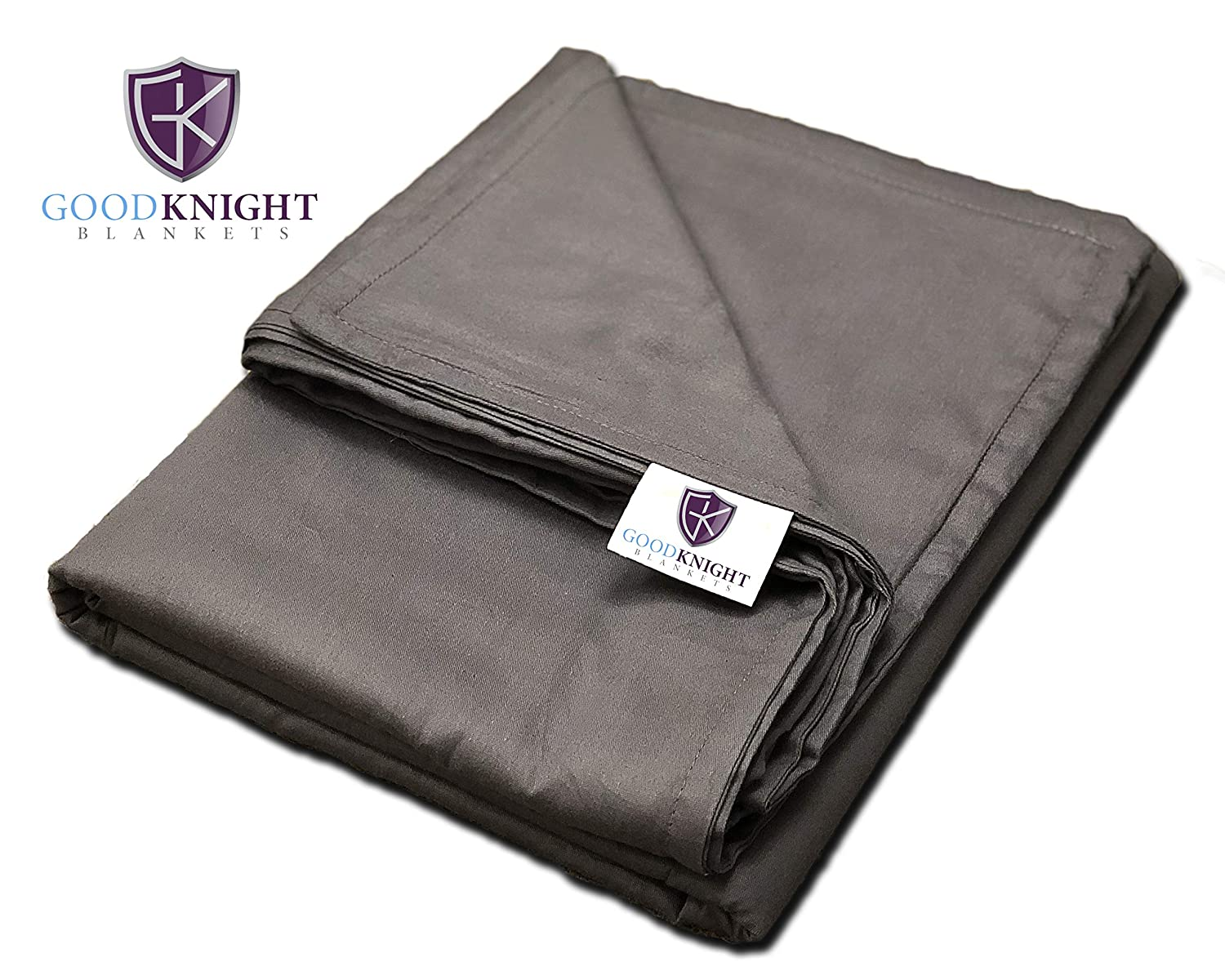 """Good Knight Blankets 100% Cotton Removable Duvet Cover for Weighted Blanket (60""""x80"""")"""