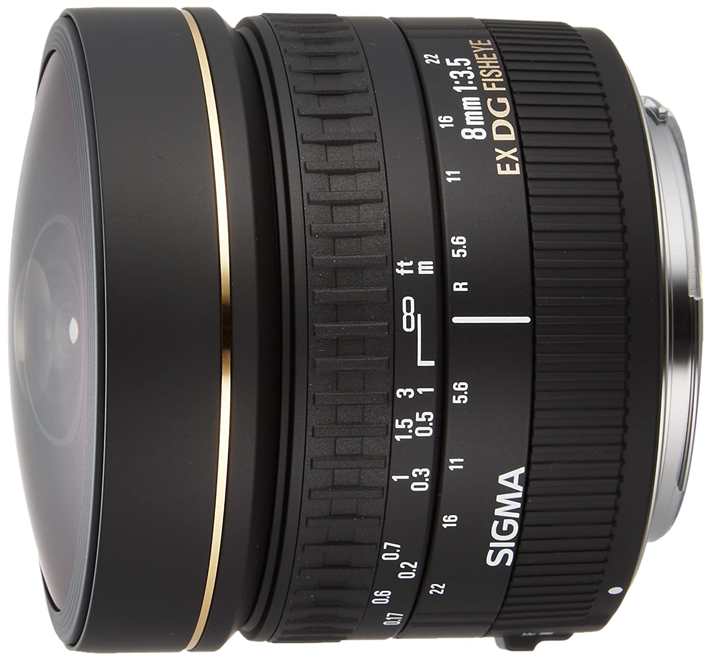 Sigma mm f Circular Fisheye EX DG CAF Objetivo para Canon distancia