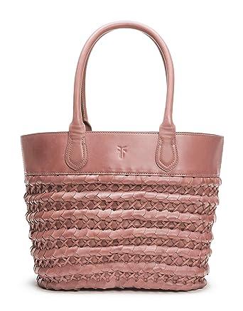 22455451e Amazon.com: Frye Woven Dip Dye Leather Tote, lilac: Clothing