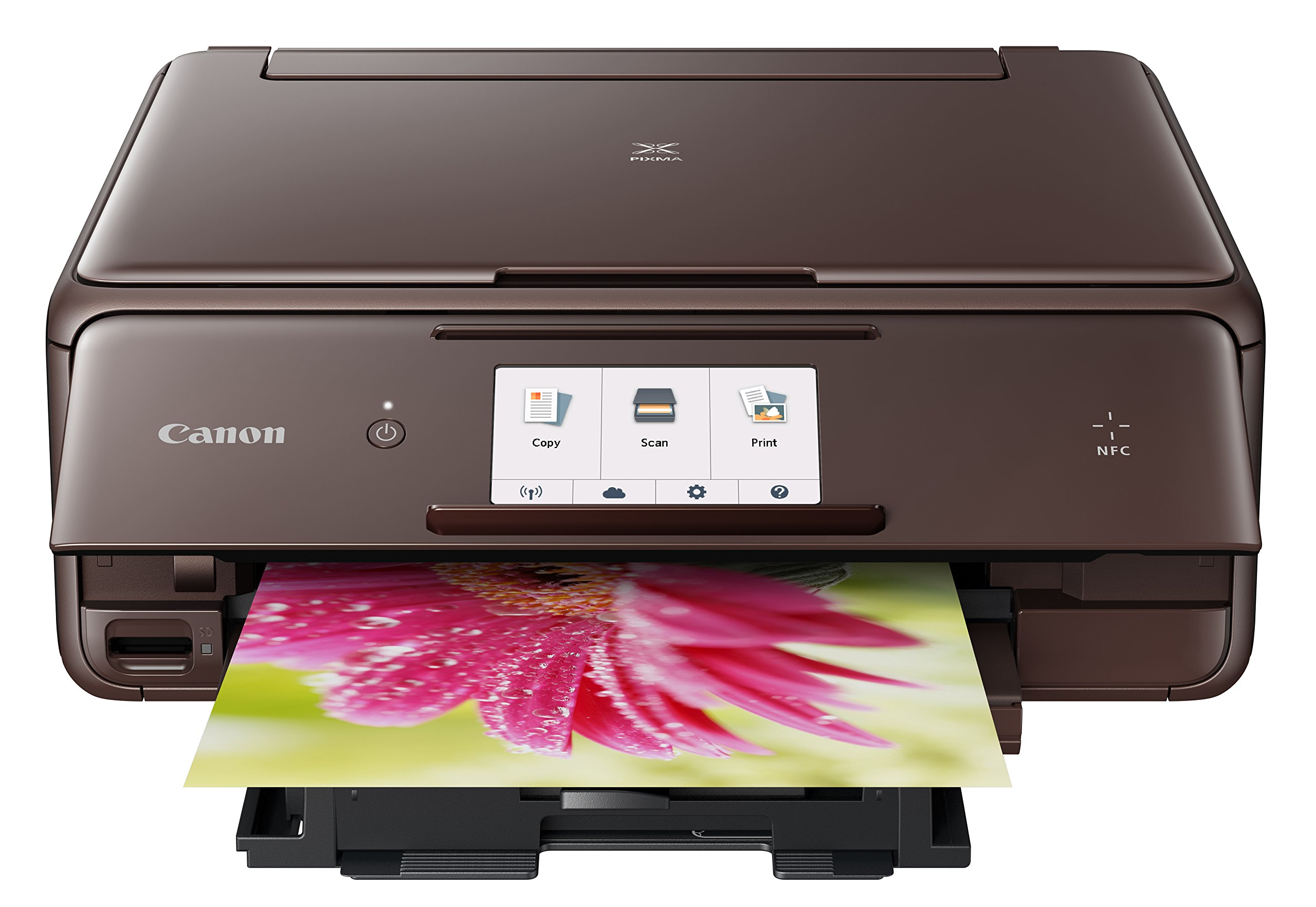 Canon USA 1369C062 wireless Color Photo Printer with Scanner & Copier 4.3 Brown
