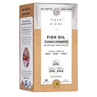 Aqua Biome by Enzymedica, Fish Oil Classic Strength, Complete Omega 3 Supplement, Non-GMO, 60 Softgels (30 Servings)