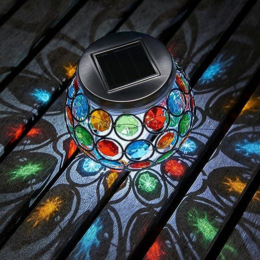 Auraglow Centro de Mesa Mosaico Luz Solar LED para Jardín al ...