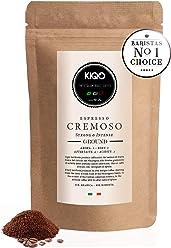 KIQO Cremoso Espresso aus Italien | in schonenden Kleinstchargen geröstet | säurearm und bekömmlich | 15% Arabica & 85% Robusta Bohnen (250g - gemahlen)