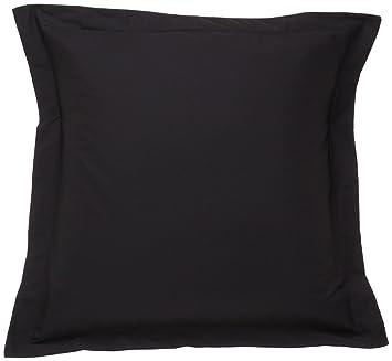 fresh ideas european tailored poplin pillow sham black