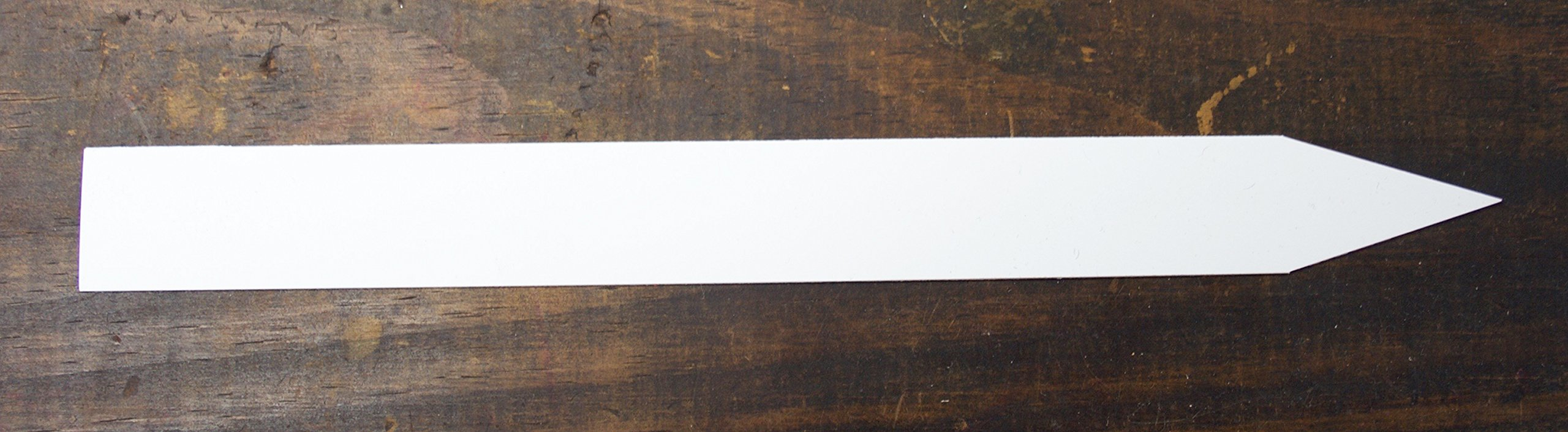 White Plastic Plant Labels, 3/4'' x 8'' (Pack of 100) and 1 All Weather Marker