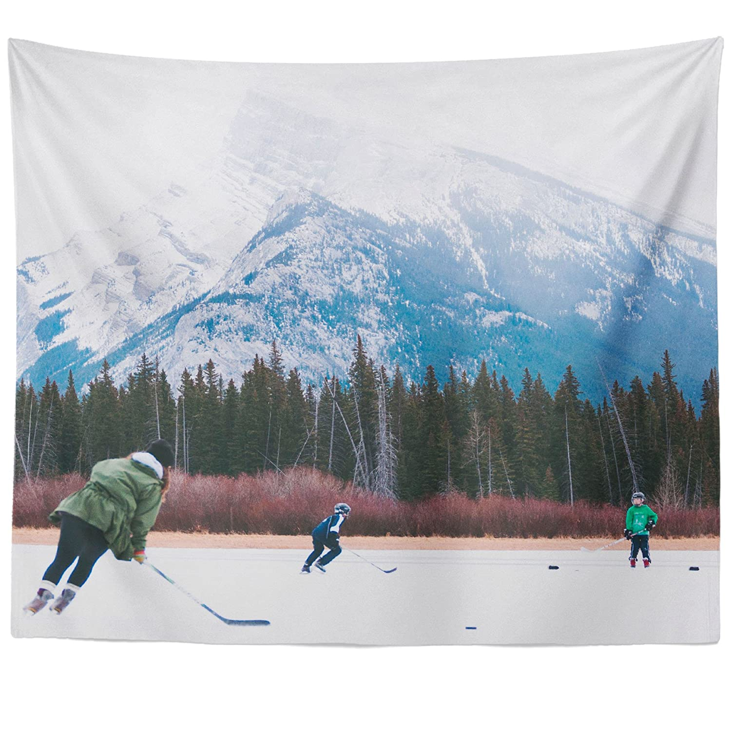 Westlake Art - Wall Hanging Tapestry - Ice Hockey - Photography Home Decor Living Room - 51x60in