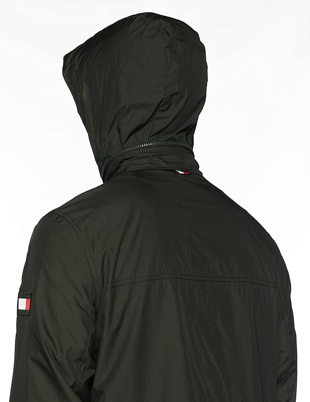 Tommy Hilfiger Mens Red White Zip Jacket