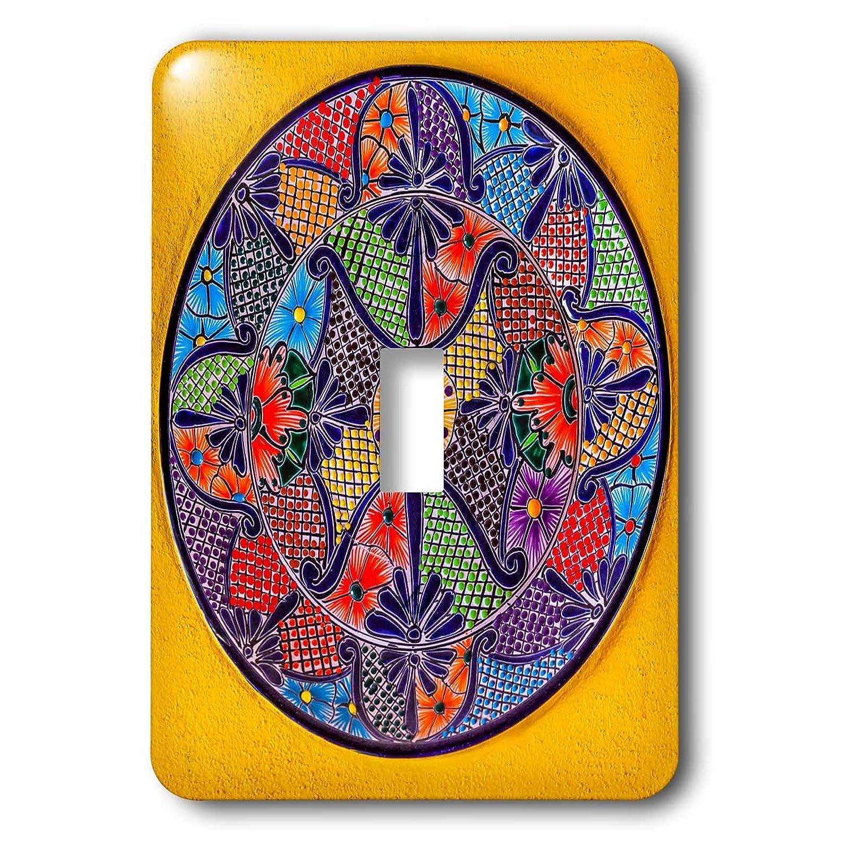 3drose Danita Delimont – アートワーク – カラフルなセラミックMexicanプレート、グアナフアト州、メキシコ – 照明スイッチカバー – シングルトグルスイッチ(LSP 278312 _ 1 ) B07BH8PPGZ