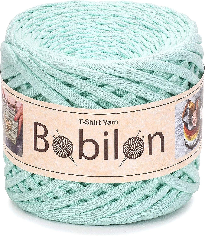 Knitting Yarn Ball Ribbon Yarn 100/% Cotton Thick Fabric Yarn Macrame T-Yarn Tshirt Yarn for Crocheting T Yarn Organic Jersey Yarn Mint T-Shirt Yarn Fettuccini Zpagetti Style