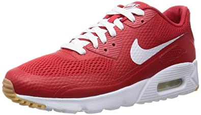 Nike air max 90 Ultra Essential Mens Trainers 819474 Sneakers Shoes (US 9.5, University red White University red 601)