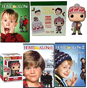 Alone Christmas Triple Feature Home Movie 1/2/3 Lost in New York Exclusive Funko Home Alone Collector Edition Kevin Pop figure + Beanie hat