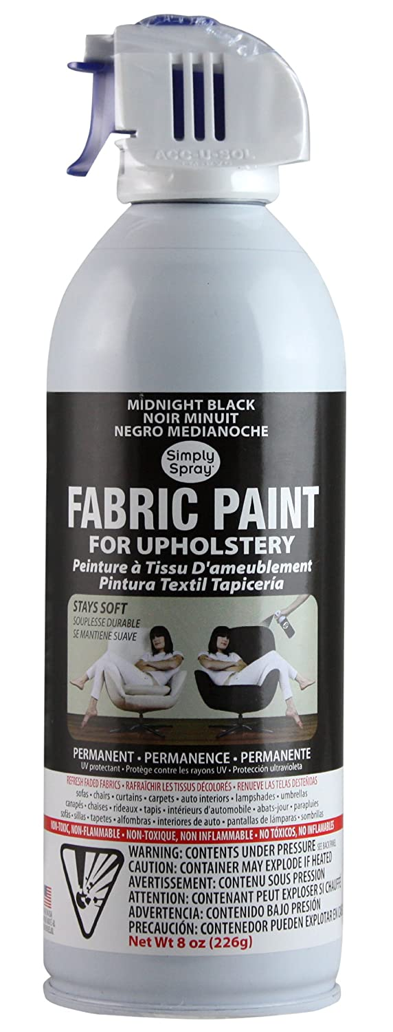Amazon.com: Black Simply Spray Fabric Paint for Upholstery 3 Pack with Free 4 Page Instruction Booklet