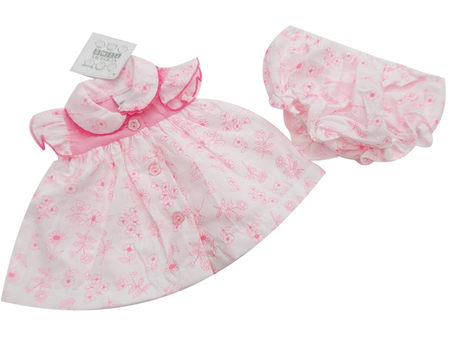 461ef0d01fd1 BNWT Tiny Baby NB Prem Premature Preemie Baby Girls Clothes floral dress  outfit (3-5lb ): Amazon.co.uk: Baby