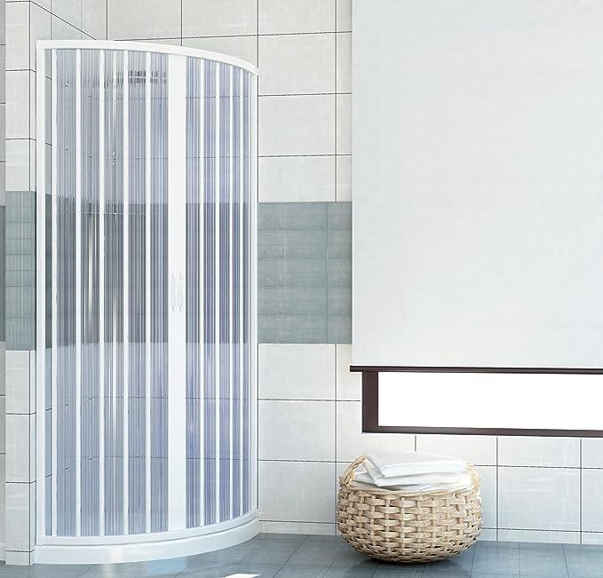 PVC extensible de ducha semicircular apertura central sola puerta ...