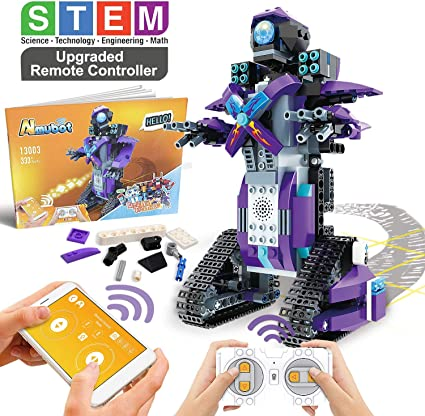 Construct /& Create 5-in-1 DIY Mechanical Coding Robot Toy With STEM