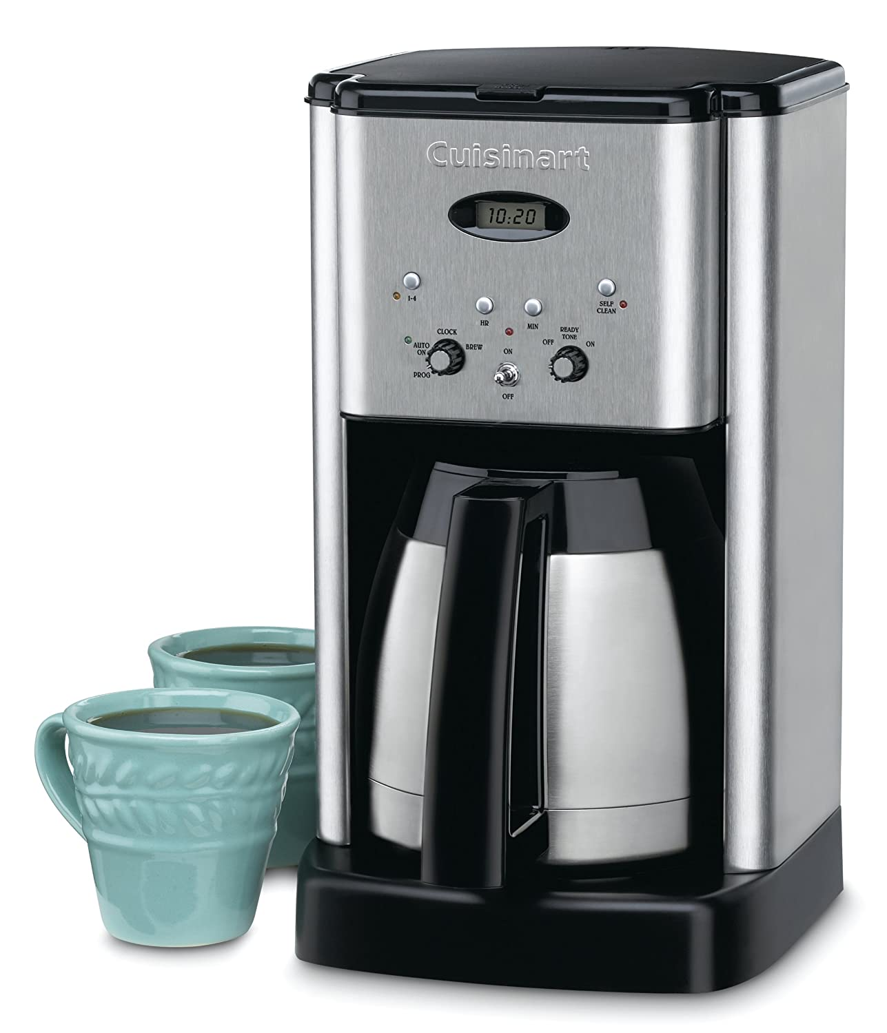 Amazoncom Cuisinart Dcc 1400 Brew Central 10 Cup Thermal Coffee Maker, Silver