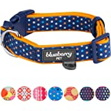Blueberry Pet Soft & Comfortable Polka Dots, Diamond, Houndstooth Pattern Dog Collar