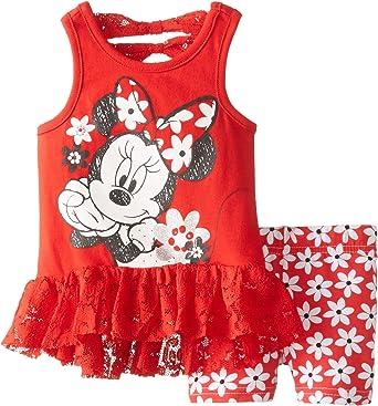 Disney Baby Girls Minnie Pullover And Short Set