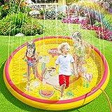 "(68"") Inflatable Sprinkler Splash Pad for Kids Toddlers Dogs, Kiddie Baby Pool, Outdoor Water Play Mat Toys - Baby…"