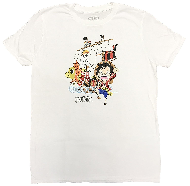 b1de41f6d315a Amazon.com: One Piece Luffy and Thousand Sunny Ship Mens Screen ...