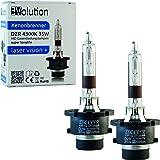 Evolution Laser Vision + Brûleur xénon D2R 4300K 35W Lot de 2