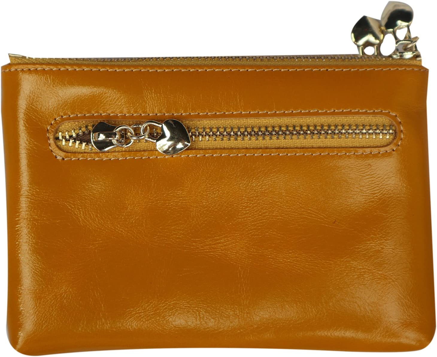 Daimanbo Women Imported Soft Real Leather Clutch Bag Yellow