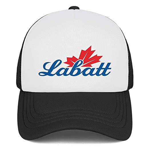 Men Labatt-Blue-Logo Adjustable Baseball Cap Classic Trucker Hat Mesh Trendcaps