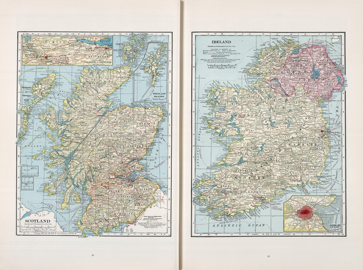Map Of Ireland Poster.Amazon Com Map Poster Scotland Ireland 24 X18 Posters Prints