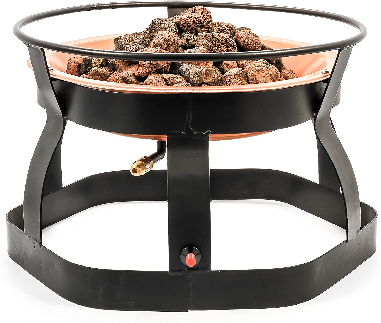 Camco 51210 18 Inch Portable Deluxe Outdoor Fire Pit 65 000 Btu S Includes 10 Foot Propane Hose Automotive Amazon Com