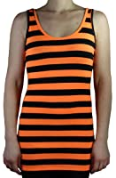 Striped ladies Long Shirt | Tanktop with stripes