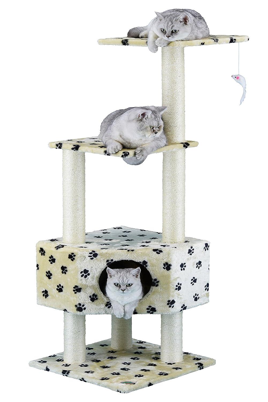 Paw Print Go Pet Club 51Inch Cat Tree Condo House Furniture, Paw Print