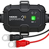 NOCO GENIUS2D, 2-Amp Direct-Mount Onboard Charger, 12V Battery Charger, Battery Maintainer, Trickle Charger, And Battery Desu