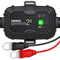 NOCO GENIUS2D, 2-Amp Direct-Mount Onboard Charger, 12V Battery Charger, Battery Maintainer, And Battery Desulfator With Temperature Compensation