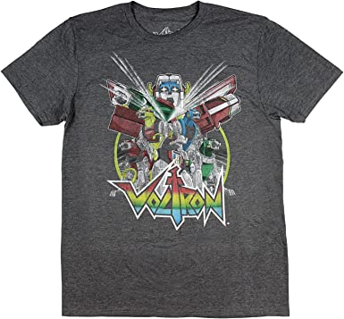 Voltron Men's Distressed Vintage Graphic Design T-Shirt
