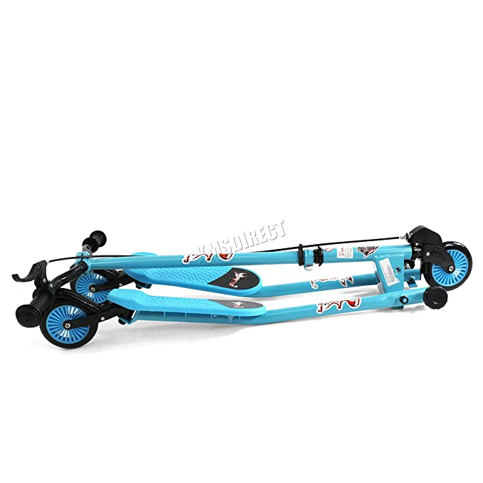 Amazon.com: KMS FoxHunter – Kids Azul Mini Tri patinete ...
