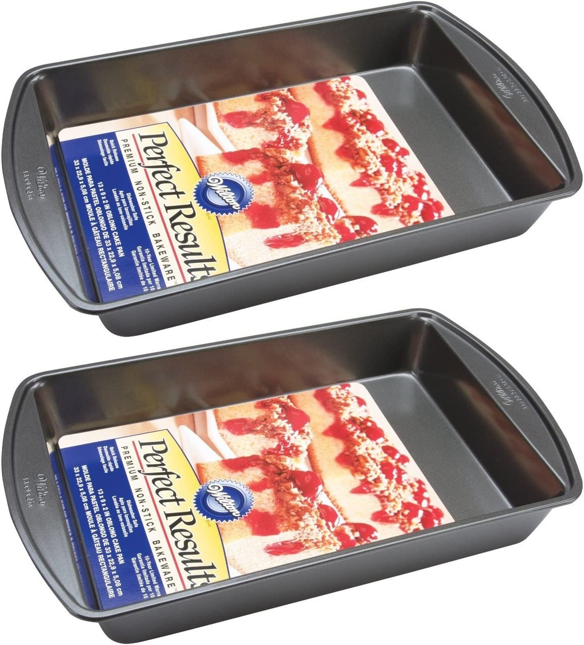 WILTON Non Stick Oblong Cake Pan with Handle Container Bakeware Rectangular Hot