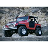 RAMPAGE PRODUCTS 768715 Roll Bar Pad and Cover Kit for 1978-1991 Jeep CJ Black Denim Wrangler YJ
