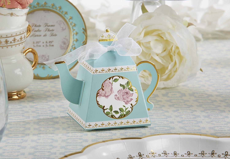 Amazon Kate Aspen 28298na Tea Time Teapot Favor Box Set Of 24