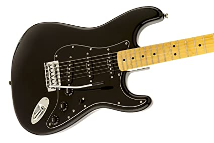Amazon.com: Squier by Fender Vintage Modified 70s Stratocaster Electric Guitar - Black - Maple Fingerboard: Musical Instruments