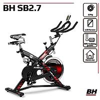 BH Fitness SB2.7 H9174F - Vélo de biking - Frein a friction - Volant de 22 Kg - Pédales mixte SPD-Trekiking
