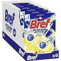 Bref Power Active Lemon 4in1, In Bowl Toilet Cleaner, 50 g (Pack of 6)