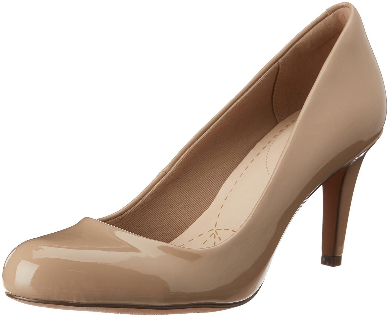 TALLA 38 EU. Clarks Carlita Cove, Zapatos de tacón con Punta Cerrada para Mujer