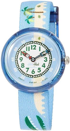 Flik Flak Reloj Analógico para Nios de Cuarzo con Correa en Tela FBNP111: Amazon.es: Relojes