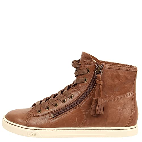 da37b74a9e0 UGG Australia Blaney Women's High Top Leather Sneaker (5, Dark ...