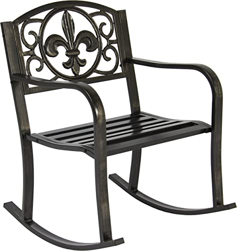 Best Choice Products Outdoor Metal Rocking Chair Seat