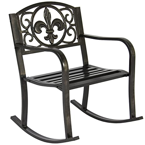 Amazon Com Stylish Outdoor Rocking Chair Seat With Durable Wrought